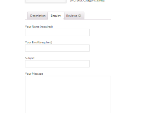 How to add inquiry tab to your product in woocommerce using contact form 7