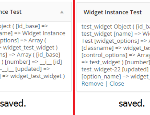 WordPress Customizer widget instance